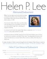 Helen P. Lee Memorial Endowment
