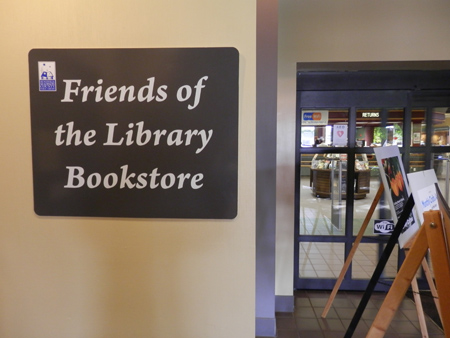 The Friends of the Library Bookstore entrance