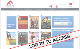 Screenshot showing where to sign in with your library card and PIN.