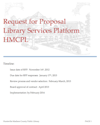 Download HMCPL's LSP RFP via this link (PDF, 567K)