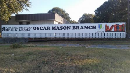 Exterior of Oscar Mason Branch Library