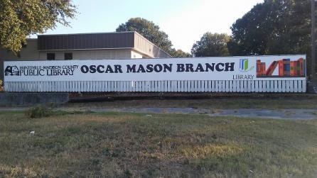 Exterior of Oscar Mason Branch Library