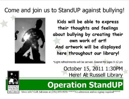 Operation StandUP against Bullying!