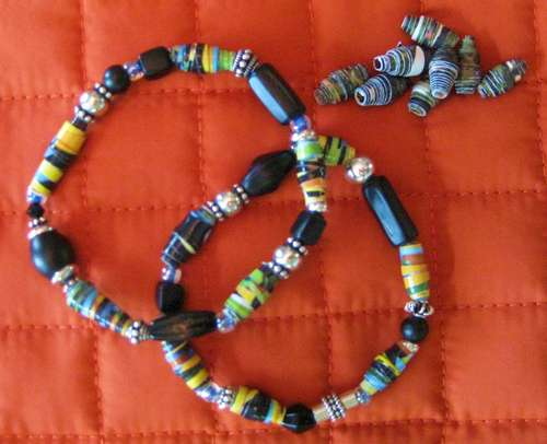 Paper Bead Jewelry at Monrovia